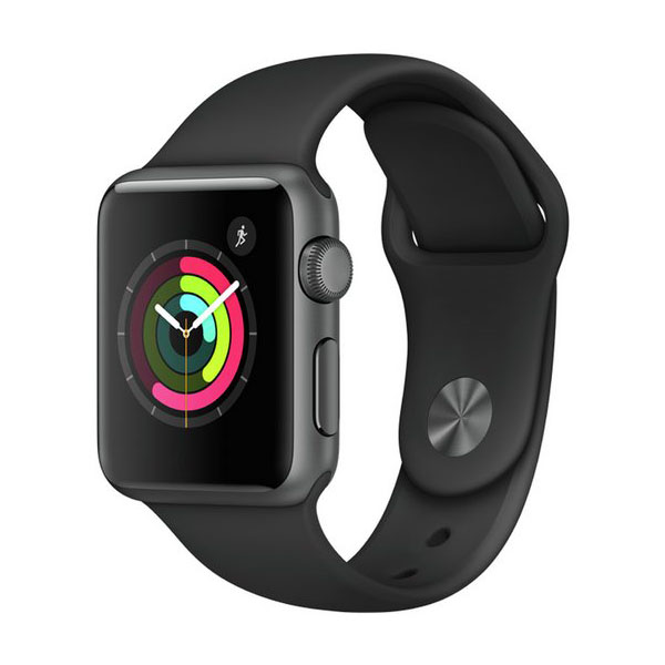 reputable site c8809 e2e88 Apple Watch Series 3 42mm Space Gray Aluminum Case with Gray Sport Band GPS  (MR362)